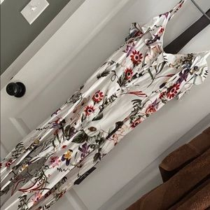 Lulu's floral dress with slit and back cutout